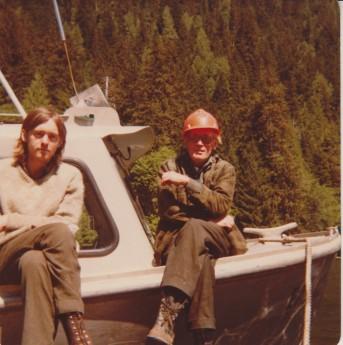 Jim with Frank, the caretaker